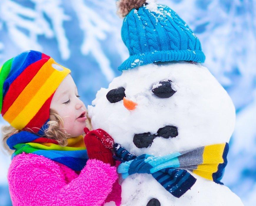 Im Winter mit Kindern basteln